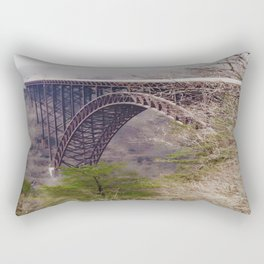 High Above the New River Gorge Rectangular Pillow