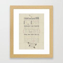 klaine Framed Art Print