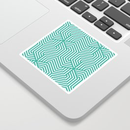 Keppel - green - Minimal Vector Seamless Pattern Sticker