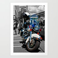 police Art Prints featuring Police by Pixel Villain