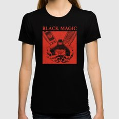 Black Magic SMALL Black Womens Fitted Tee