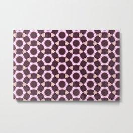 Light Pink Pattern Metal Print