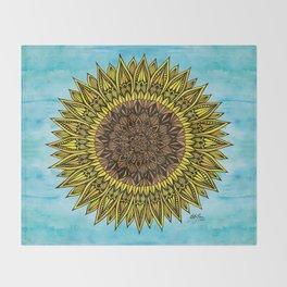 Zentangle - Sunflower Sunshine  Throw Blanket