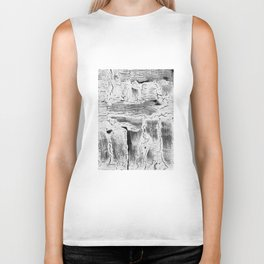 Abstract Artwork Greyscale #2 Biker Tank