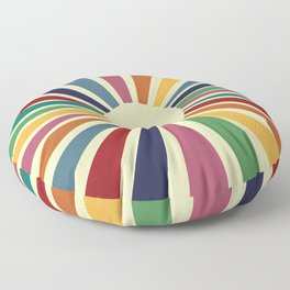 Sun Retro Art II Floor Pillow