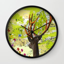 deer online Wall Clock