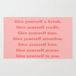 Give yourself... Rug