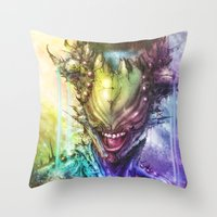 earth Throw Pillows featuring Earth by Vincent Vernacatola