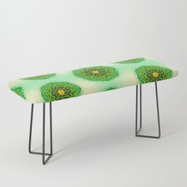 Mandala Zen Greenery Seamless Pattern Design Bench