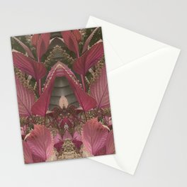 Red Shiso Warm Tones Pattern Stationery Cards