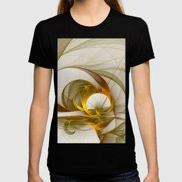 Fractal Art Precious Metals, Abstract Graphic T-shirt