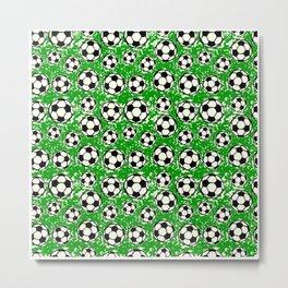 Soccer Pattern   Goal Score Stadium Champion Metal Print