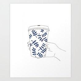 Coffee To Go Art Print