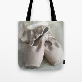 Pink ballet shoes Tote Bag