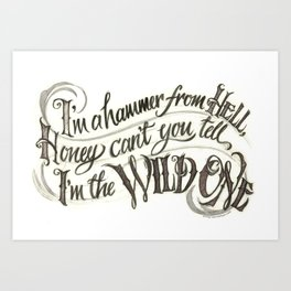 WildOne Art Print