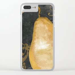 Melange Pear Clear iPhone Case