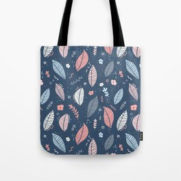 A Frolic Of Flowers And Leaves In A Perfectly Pretty Pastel Pattern Tote Bag