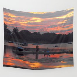Sunset At The Cove Wall Tapestry