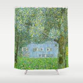Klimt - Farmhouse in Upper Austria (new editing) Shower Curtain