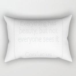 Confucius Quote Rectangular Pillow