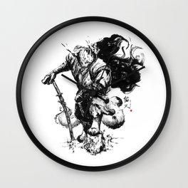Nekomata (Cat spirit) Wall Clock