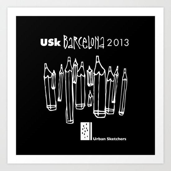Urban Sketchers USk BCN 2013 Art Print