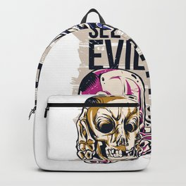 Hear No Evil Art Backpack