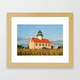 East Point Lighthouse - New Jersey. Framed Art Print