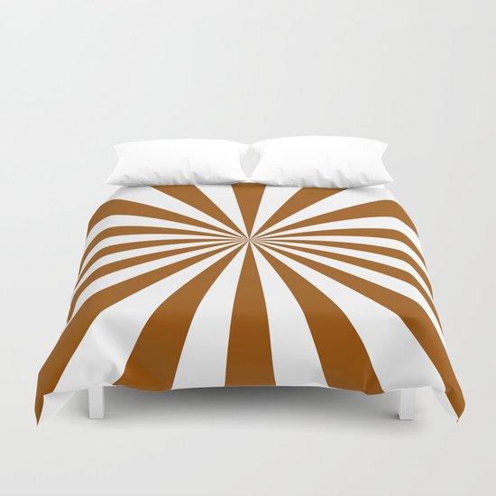 Starburst (Brown/White) Duvet Cover