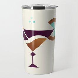 Cocktail // Geometric Minimalist Illustration Travel Mug