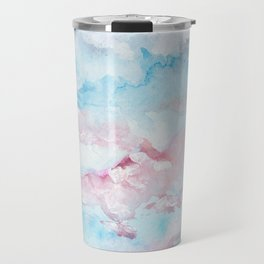 Pink and Blue Clouds . Sky Travel Mug