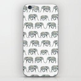 Elephant nature safari tropical painting watercolor nature pattern  iPhone Skin