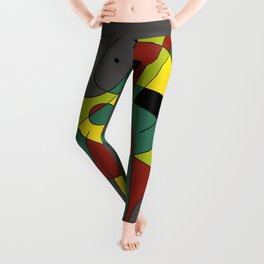 Abstract #226 The Cellist #2 Leggings