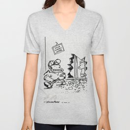Ape Builders Remodel a Wall Unisex V-Neck