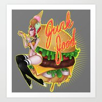 junk food Art Prints featuring Junk Food by Artetak