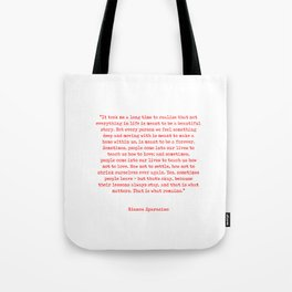 Typewriter Style Quote ((Bianca Sparacino)) Tote Bag