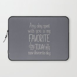 """Winnie the Pooh quote  """"FAVORITE"""" Laptop Sleeve"""