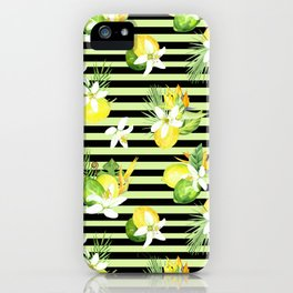 watercolor seamless pattern fresh summer iPhone Case