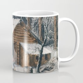 Vintage Home in The Wilderness Painting (1870) Coffee Mug