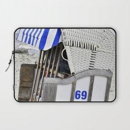 Beach Chair 69 on the Baltic Sea Laptop Sleeve