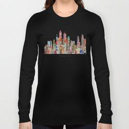 kansas city Missouri skyline Long Sleeve T-shirt