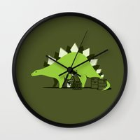 oil Wall Clocks featuring Crude oil comes from dinosaurs by AGRIMONY // Aaron Thong