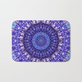 Indulgence of lavendery details in the lace mandala Bath Mat