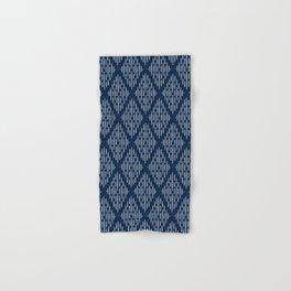 arcadia diamonds - navy blue Hand & Bath Towel