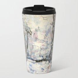 Snowy Landscape Metal Travel Mug