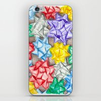 bows iPhone & iPod Skins featuring Bows by Lady Tanya bleudragon
