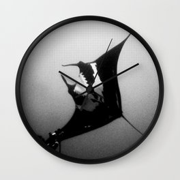 Evading Devil Fish Wall Clock