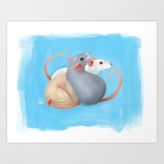Rattie Trio Art Print