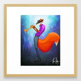 Jazz Fox Painting Framed Art Print