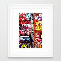 grafitti Framed Art Prints featuring Grafitti by Emily Dolenz Photography